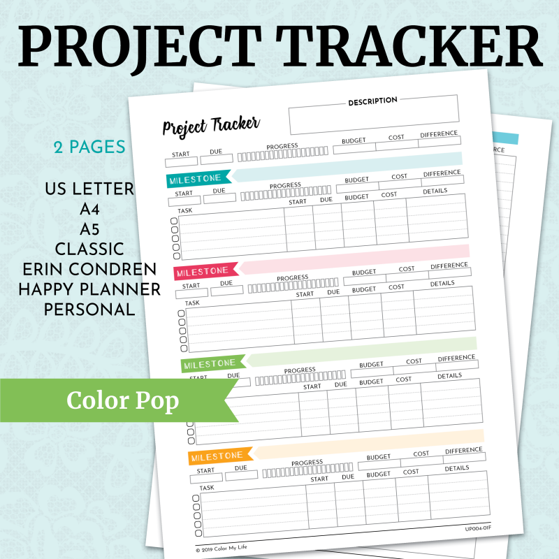 Project Tracker - Color Pop